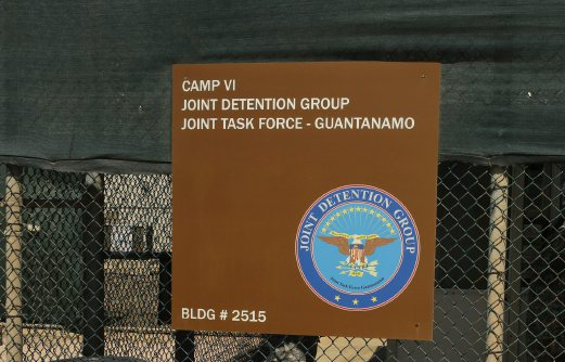In this Feb. 2, 2016 photo, a sign for Camp 6 is posted outside the US detention center at Guantanamo Bay, Cuba.The Pentagon is expected to send Congress a plan on Tuesday for closing the wartime prison at Guantánamo Bay, Cuba, which President Barack Obama wants to complete before he leaves office. AP Photo