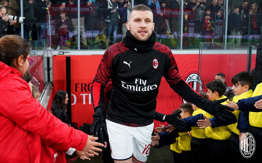 Ante Rebic scored the only goal in a 1-0 win over Torino. - Pic source: Facebook/ACMilan