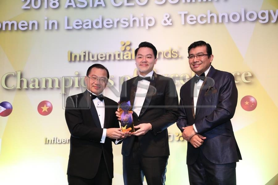 Fave founder Joel Neoh was the recipient of the 2018 Asia's Top CEO Of The Year Award at the 2018 CEO Summit & Award Ceremony in Singapore recently. Picture courtesy of Fave.