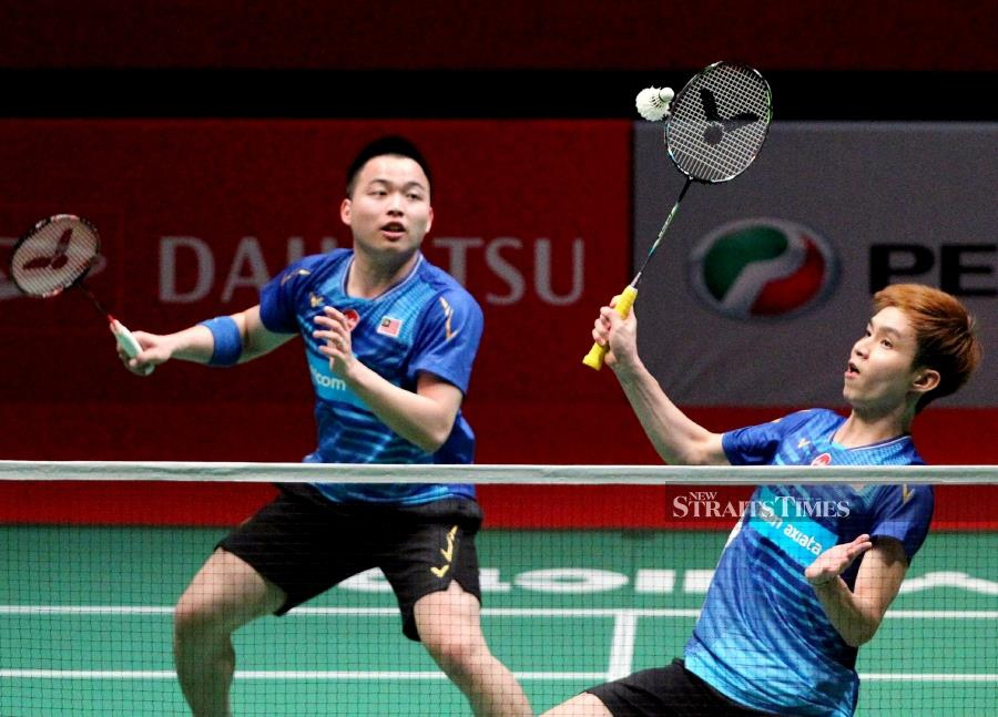 Aaron Chia-Soh Wooi Yik are expected to participated in five tournaments as they hunt for a spot in the Tokyo Olympics. - NSTP/File pic