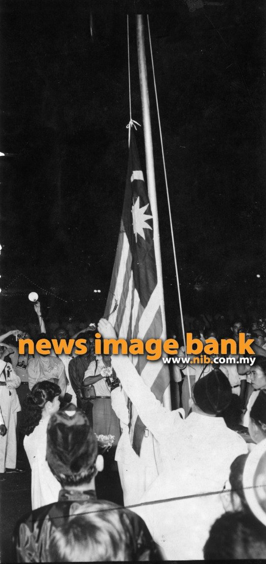 Image result for Raising of the Malayan Flag at the Padang on August 31. 1957