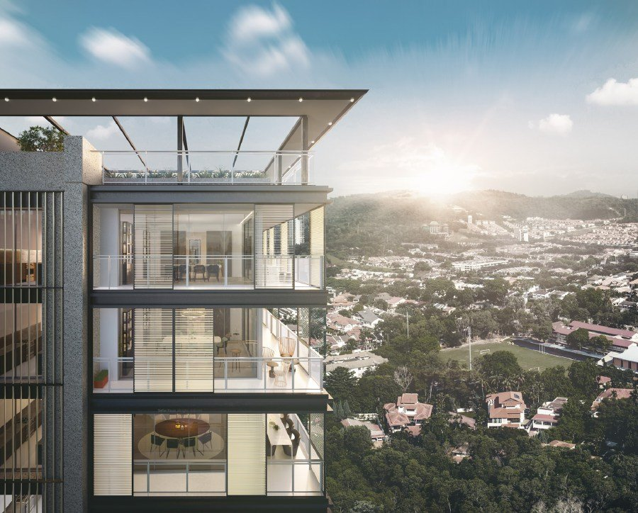 AIRA Residence, nestled on 1.21ha at the high point of Jalan Batai — the last low-density development within the Damansara Heights enclave, is currently under construction.