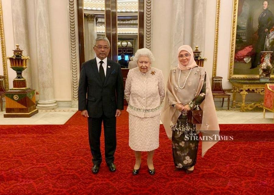 Image result for IMAGES OF AGONG IN LONDON