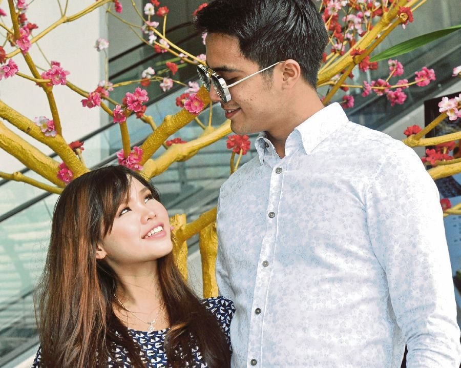 Actor Aliff Aziz with his wife, Bella Astillah. FILE PIC