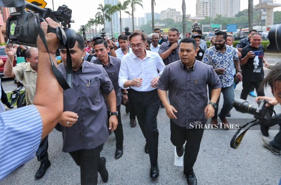 Datuk Seri Anwar Ibrahim urges everyone to accept and respect the decision which will be announced by the King. - NSTP/ASWADI ALIAS