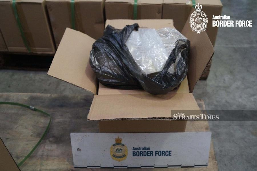 The amount was sufficient to produce a tonne of syabu with an estimated market value of A$750 million (RM2.1 billion). - NSTP/ courtesy of Australian Border Force (ABF)