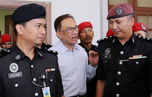 After serving some 20 months for sodomy, Datuk Seri Anwar Ibrahim returns to the Federal Court today for the hearing of his final legal bid to set aside his sodomy conviction and five-year jail sentence. Pix by Abdullah Yusof