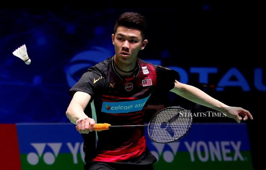 Lee Zii Jia in action during his semi-final defeat to Viktor Axelsen at the All England in Birmingham last weekk. REUTERS PIC