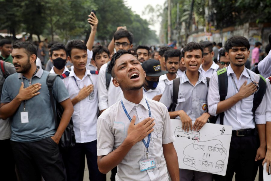 115 students injured in clashes as Bangladesh teen protests turn violent