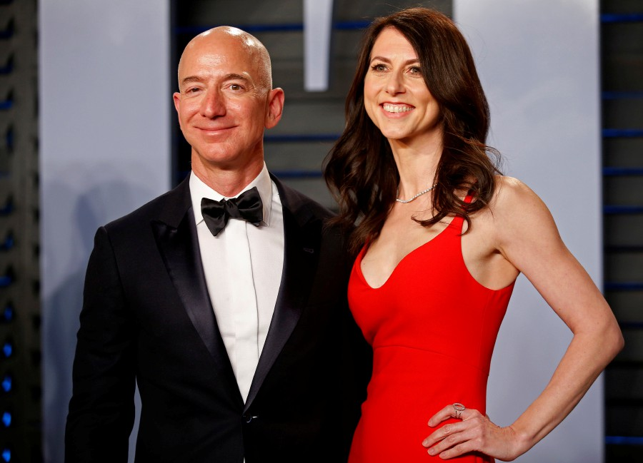 Amazon CEO Jeff Bezox and wife MacKenzie are divorcing after a long separation. - Reuters