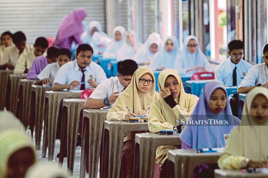 Public examinations for Form Five and Six students have been postponed yet again. - NSTP file pic