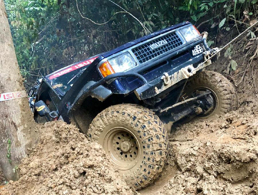 Winching to overcome steep acends.