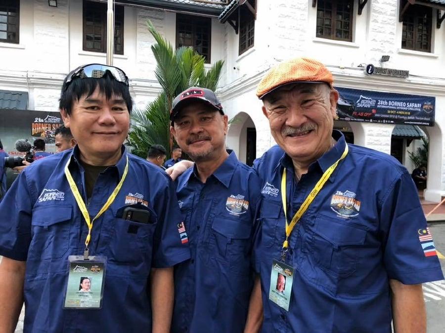 Veterans of the Borneo Safari (From left) Jason Ho, Anthony Wong and Toshiharu Urabe.