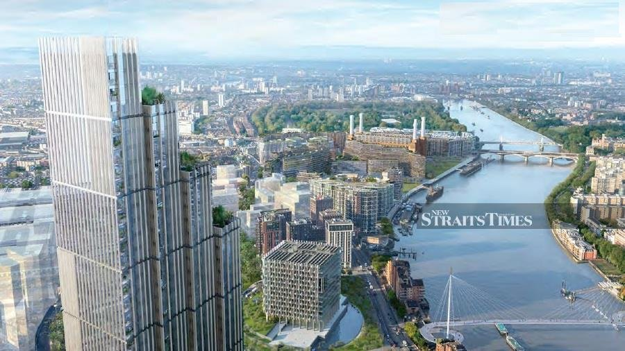 CC Land Holdings Ltd is buying properties and developing sites in London. Photo of the Nine Elms Square project from www.ccland.com.hk