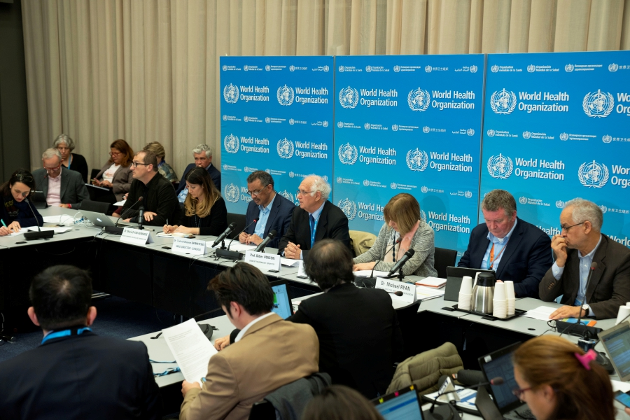 A news conference following the second meeting of the International Health Regulations (IHR) Emergency Committee for Pneumonia due to the Novel Coronavirus 2019-nCoV in Geneva, Switzerland January 23, 2020. Christopher Black/WHO/Handout via REUTERS