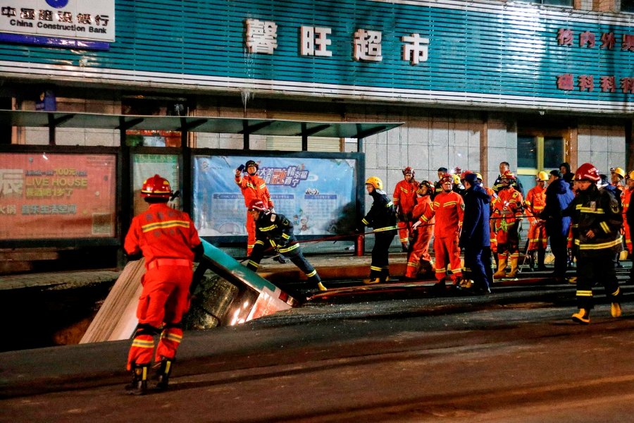 Six dead and four missing after sinkhole swallows bus in western China