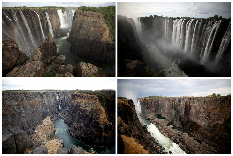 Zimbabwe: worst drought in a century shrinks Victoria Falls to a trickle