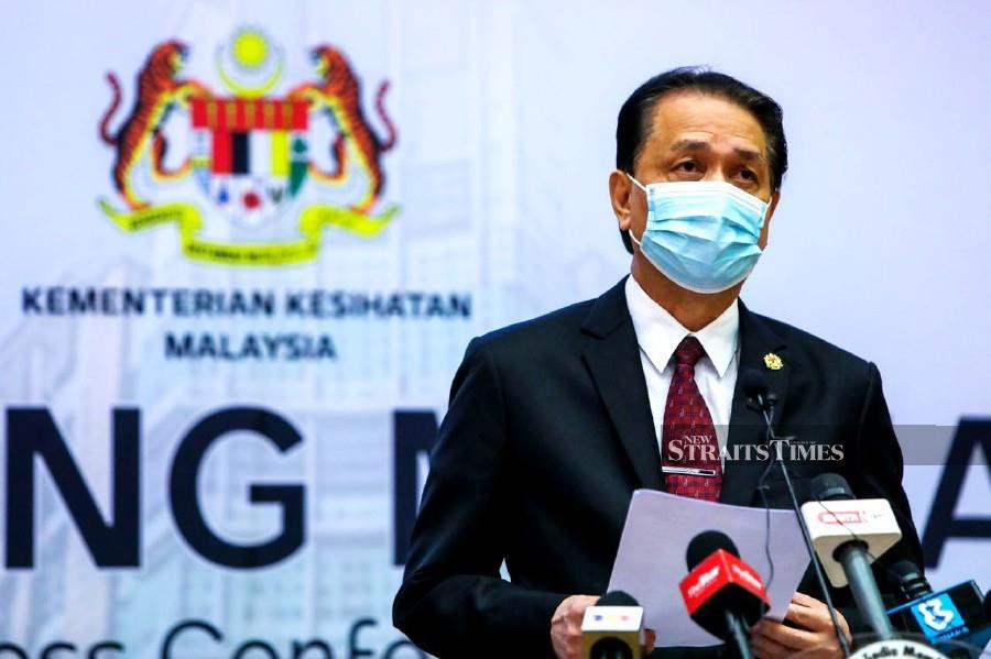 Health director-general Tan Sri Dr Noor Hisham Abdullah said the total number of active clusters in the country currently stands at 201.  - NSTP/LUQMAN HAKIM ZUBIR
