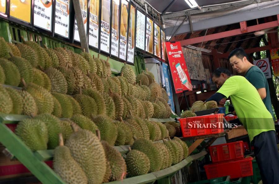 Durian Kaki co-owner Tan Chee Wei, 36, said prices for the King of Fruits had gone down in tandem with the supply increase of the tropical fruit. -- NSTP/DANIAL SAAD