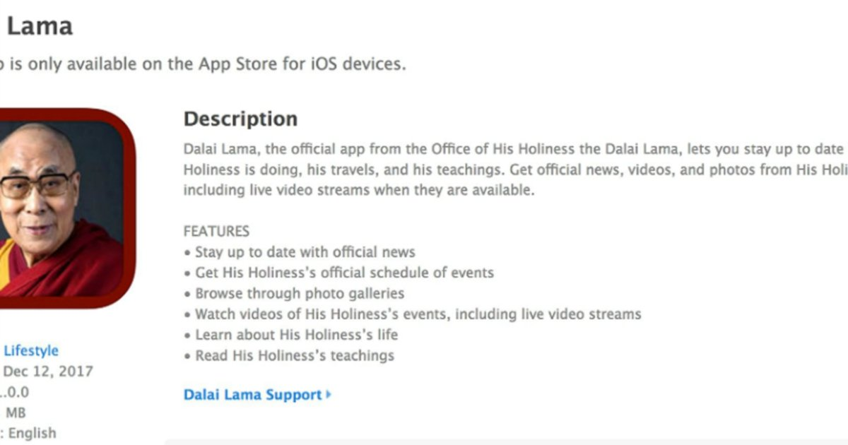 Dalai Lama turns to iPhone to spread app-iness | New Straits Times