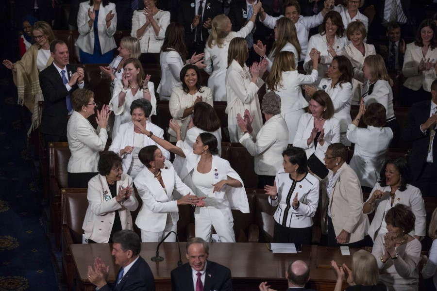 Fine Democrat Women In White Show Of Solidarity At Trump Address Home Interior And Landscaping Transignezvosmurscom