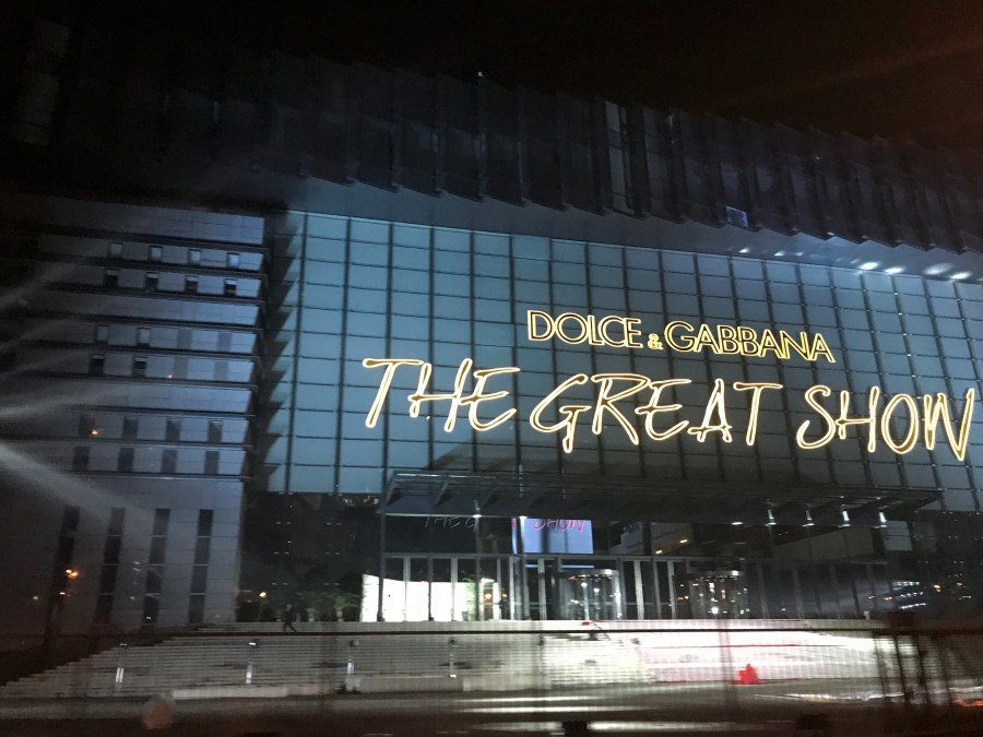 A general view of the venue for The Great Show of Dolce and Gabbana in  Shanghai, China, 19 November 2018 (issued 22 November 2018). 3afa5fea9363