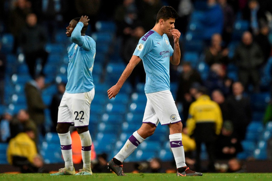 Manchester City are facing a two-year ban from the Champions League for breaching financial regulations. -AFP