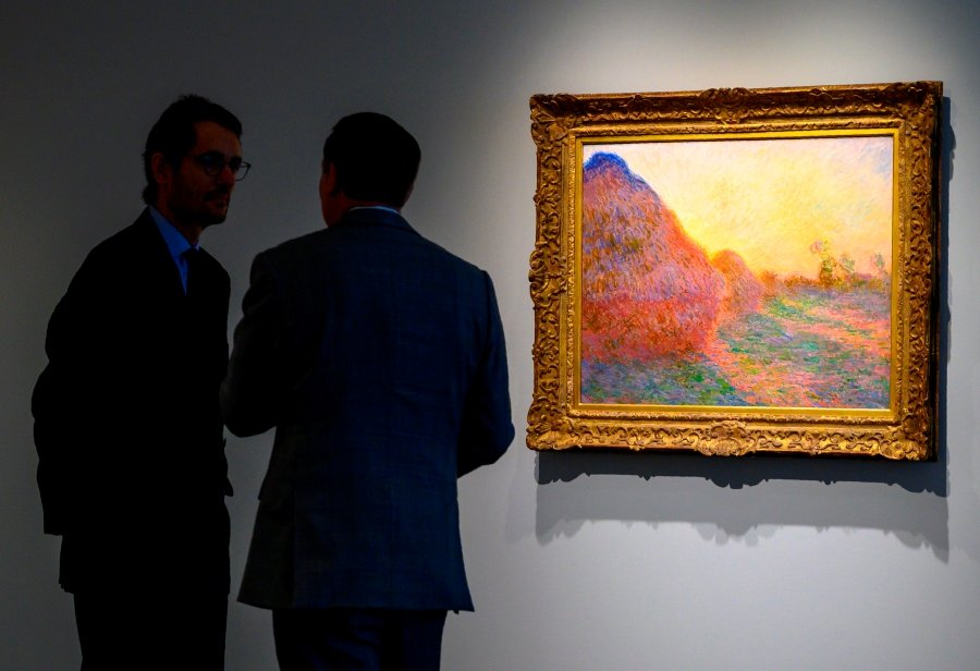 Monet 'Haystacks' painting sells for record $110 7 million