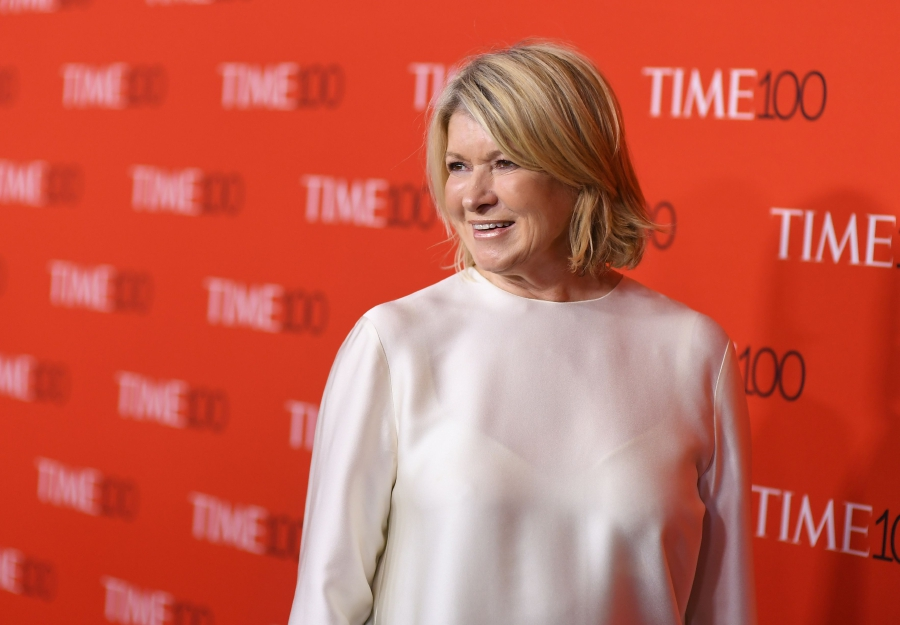 (File pix) In this photo taken on April 24, 2018 Martha Stewart attends the TIME 100 Gala celebrating its annual list of the 100 Most Influential People In The World at Frederick P. Rose Hall, Jazz at Lincoln Center in New York City. AFP Photo