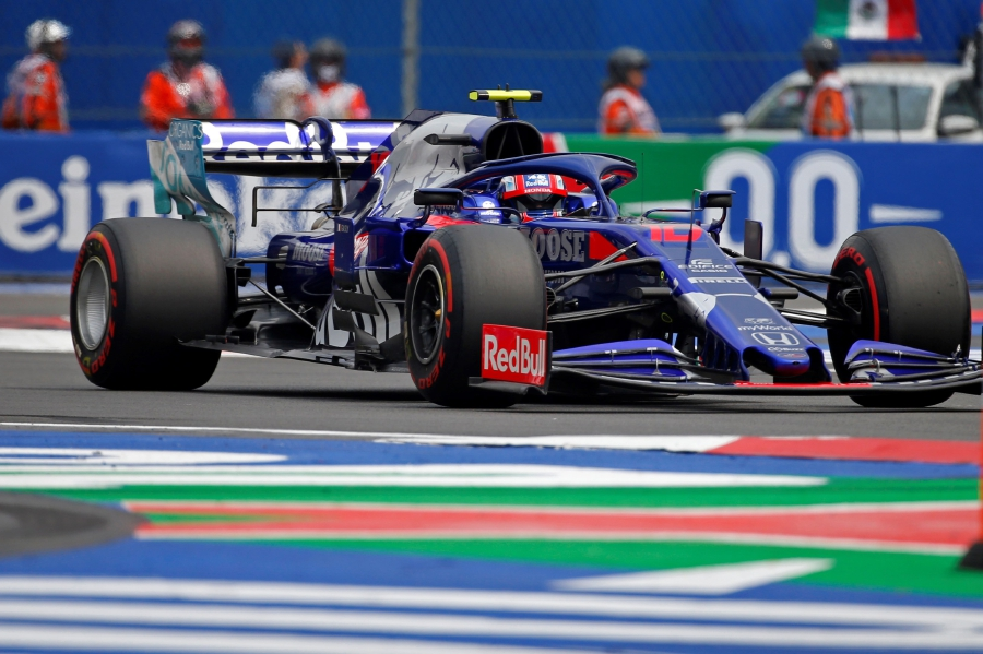 French Formula One driver Pierre Gasly of the Toro Rosso team takes part in the qualifying session of the Mexican Grand Prix at the Hermanos Rodriguez Racetrack in Mexico City, Mexico, 26 October 2019. The Grand Prix of Mexico will take place on 27 October. - EPA/FRANCISCO GUASCO