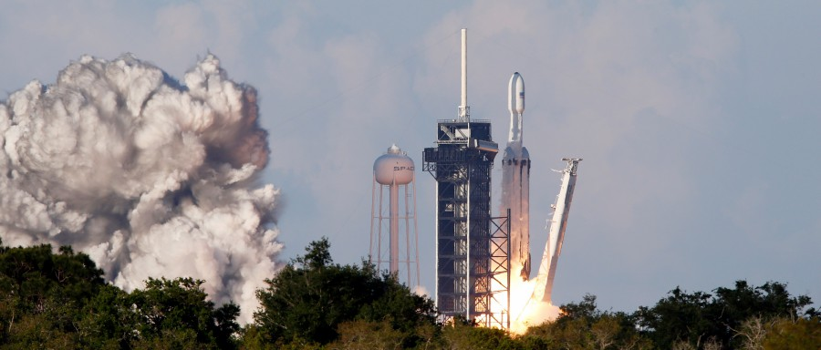 SpaceX's Falcon Heavy conducts first commercial flight | New