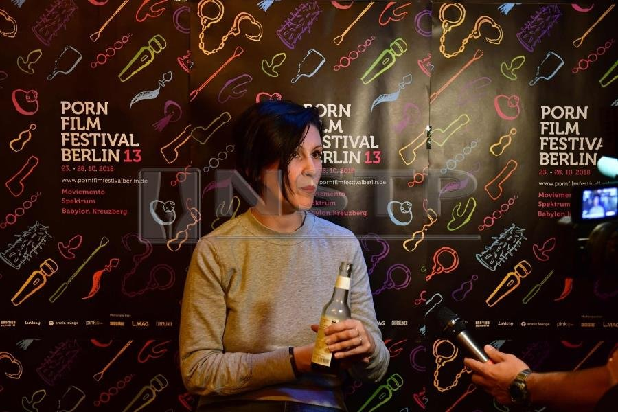 (File pix) French actress, director, producer and writer Ovidie gives an  AFP interview during the screening of her movie 'Everything is Better Than  a ...