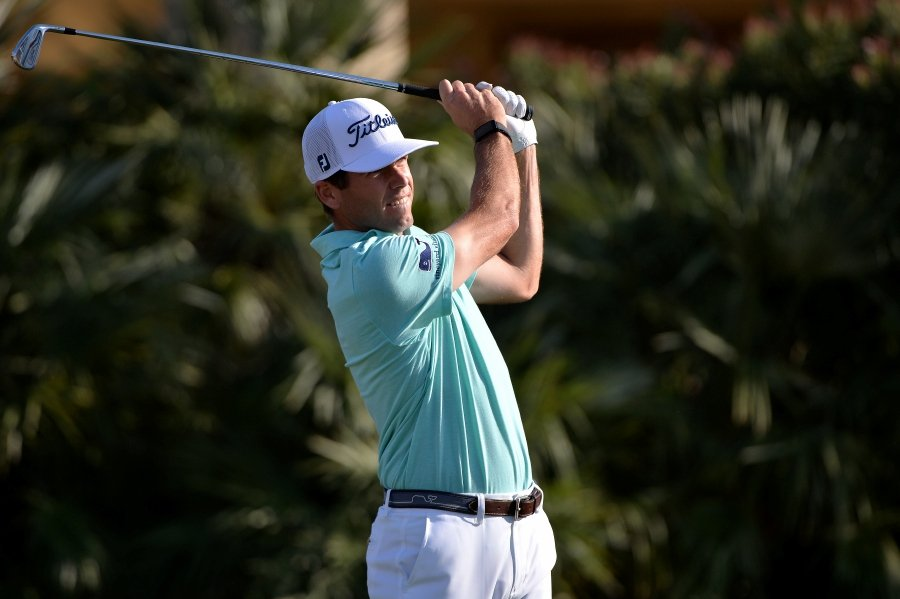 Ben Martin plays his shot from the 17th tee during the first round of The American Express golf tournament on the Jack Nicklaus Course at PGA West.-Usa Today Sports