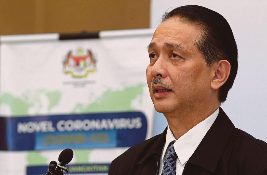 Health director-general Datuk Dr Noor Hisham Abdullah said that while there has been no exponential spike in cases, the ministry will continue to observe the trend in the next two weeks before the MCO ends on April 14. - BERNAMA pic