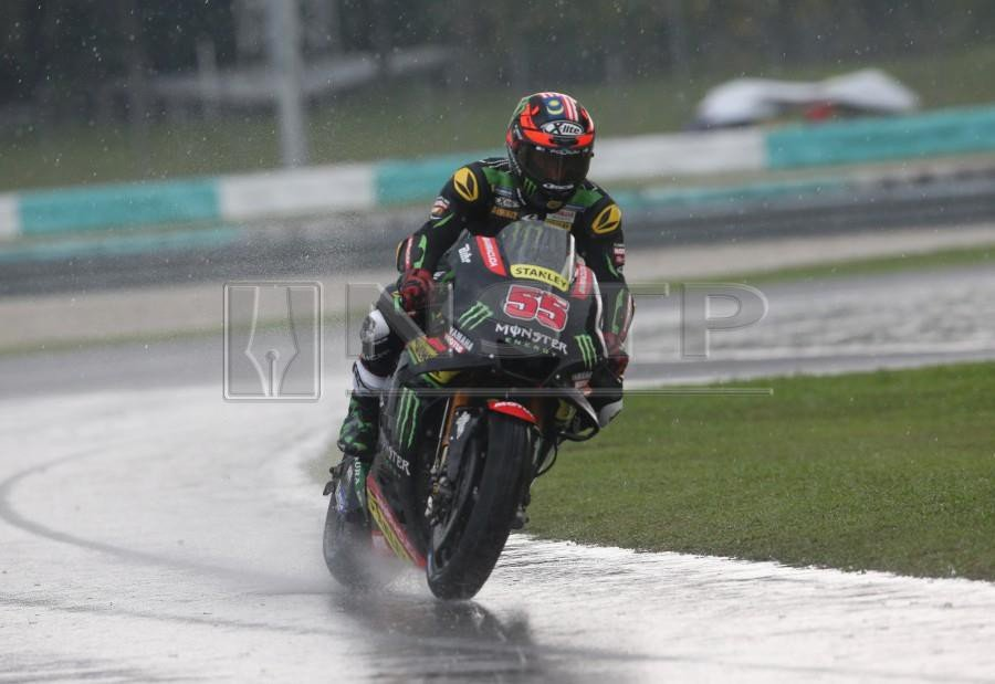 Monster Yamaha Tech3's Hafizh Syahrin Abdullah will start the Shell Malaysia Motorcycle Grand Prix from the last row of the starting grid on Sunday.- NSTP/NUR ADIBAH AHMAD IZAM