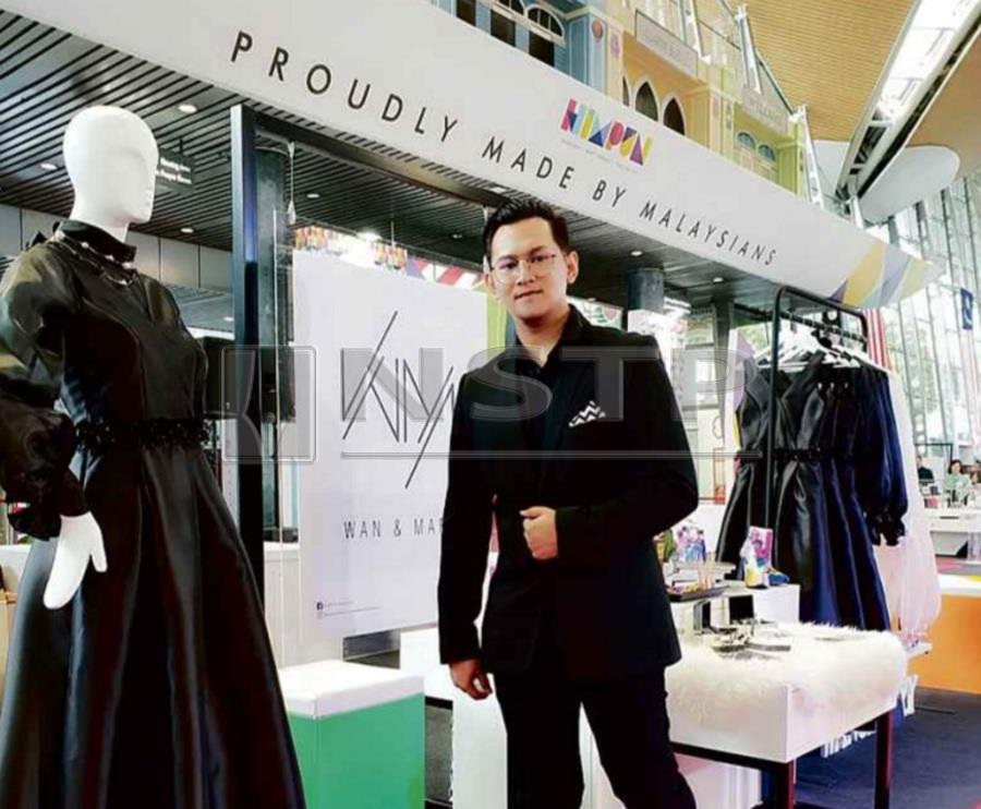 (File pix) Mohd Hazzerwan Mohd Hazzlee is collaborating with big names in fashion.