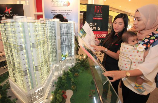 Malaysians house-buyers are increasingly attracted to the lifestyle attached to high-rise residential living as it offers affordability, security features and good resale value. Pix by Mohd Azren Jamaludin