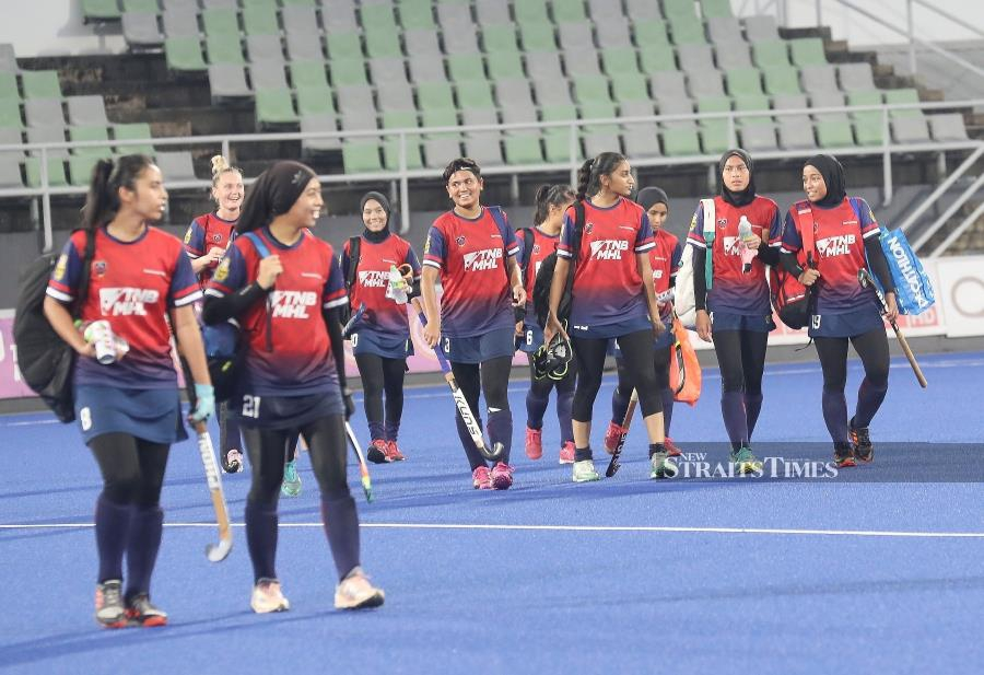 Following their success in winning the Malaysia Women's Hockey League ti tle and the silver in the Vivian May Soars Cup in their debut, HockAdemy club president Datuk Seri Megat D. Shahriman announced the Bali holiday reward yesterday. - NSTP/OWEE AH CHUN.