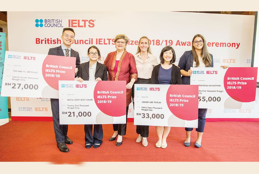 Bright start for IELTS prize winners | New Straits Times