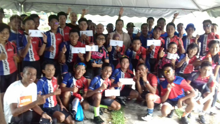 Riders were selected for the elite, under-19, under-15 and women's categories to compete in the Junior Cycling Malaysia (JCM) opening round.