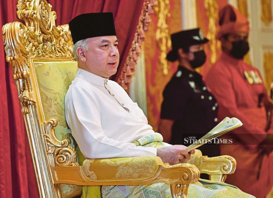 The people's needs aside, Sultan Nazrin said the poor and the needy and those who had lost their jobs due to the Covid-19 pandemic should not be victimised by warring politicians, pointing out that what had happened would be recorded as a reflection of failure, instead of success. - Bernama photo.