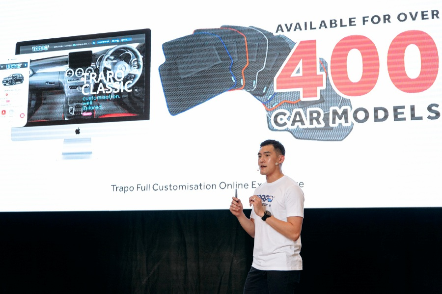Tzong Lee, chief executive officer and co-founder of TRAPO Asia during the opening speech and presentation. Courtesy Photo