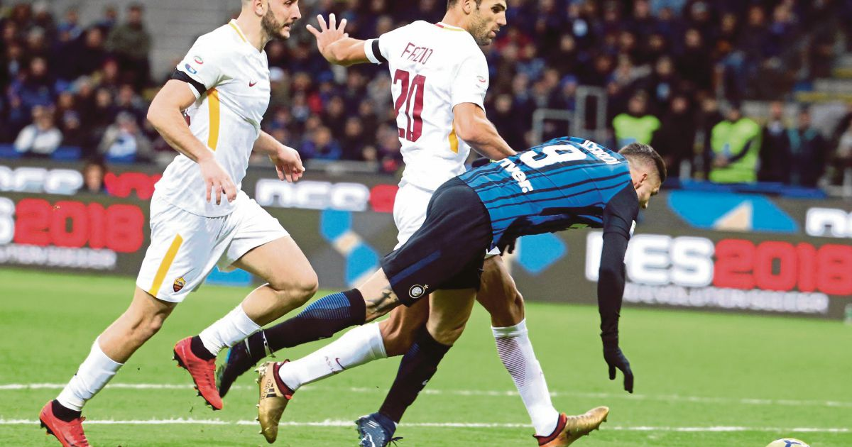 Inter Milan fall further behind Napoli after Roma draw