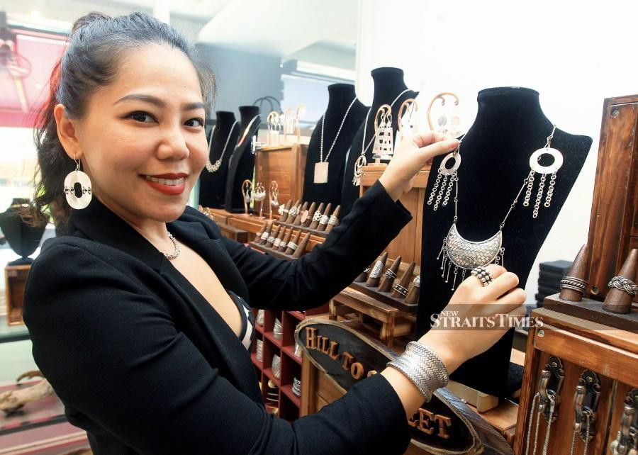 Teoh launched Hill to Street in 2018, offering handmade silver jewellery. Photo by Amirudin Sahib