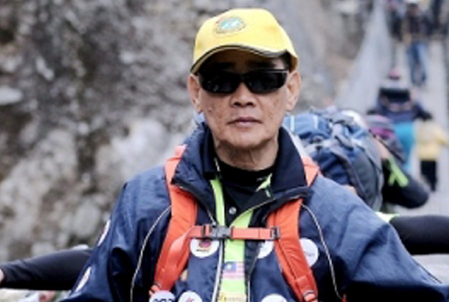 James Lee Chong Meng, 69, was airlifted from Mount Everest's Camp 2 after suffering from chest pain. NSTP pix.