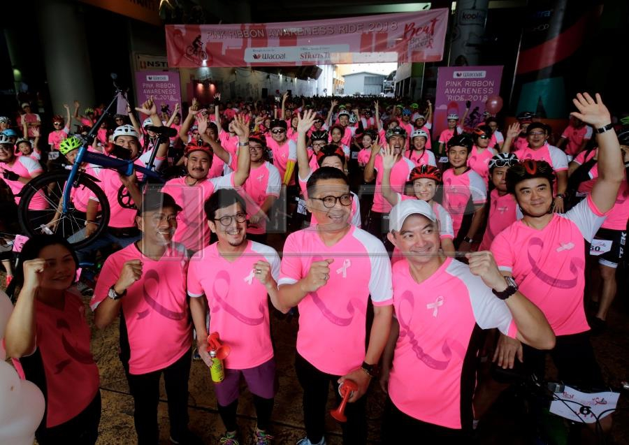 More than 700 spirited cyclists kicked off Breast Cancer Awareness Month in Malaysia with the Pink Ribbon Fun Ride here today. (NSTP/SYARAFIQ ABD SAMAD)
