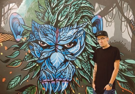 Mural magic kenji enlivens blank spaces with grafitti for Mural 1 malaysia negaraku