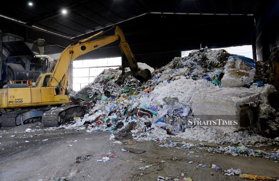 Plastic waste is at disposal facility, not dumped indiscriminately