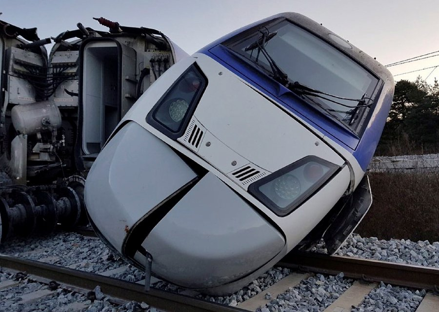 14 injured as South Korean KTX bullet train derails | New Straits