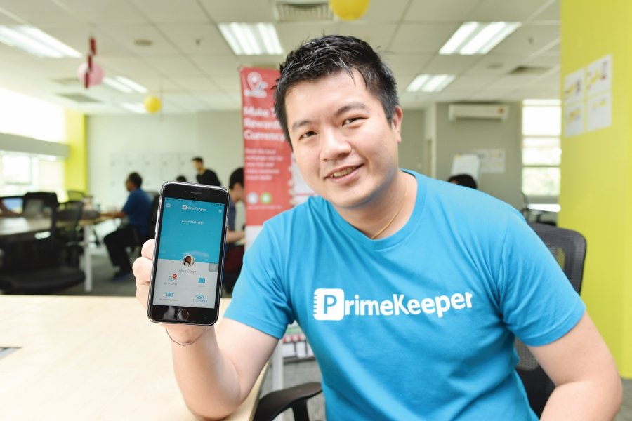 One of the start-ups, PrimeKeeper, with its solution